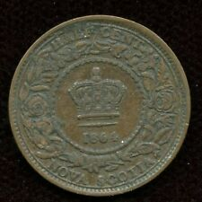 1864 Nova Scotia 1/2 Cent Coin
