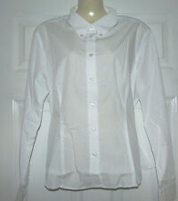 Ladies WHITE long Sleeve fitted Blouse Work/office/social/casual Choose Size
