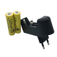 2X 18650 9800mAh Battery 3.7V Li-ion Rechargeable With 4.2V Charger EU Plug New