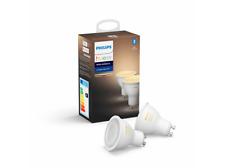 2 bombillas Bluetooth conmutador Philips Hue Led Gu10 luz blanca Cálida a Fría