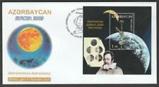 AZERBAIJAN 2009 EUROPA CEPT ASTRONOMY SOUVENIR SHEET FIRST DAY COVER