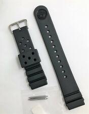 Original SEIKO Diver 22mm SKX173 / SKXA35 Black Rubber Watch Band Strap w/ Pins