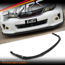 Black Front Bumper bar Lip Spoiler for SUBARU STI & WRX 11-13 GVB Hatch & Sedan
