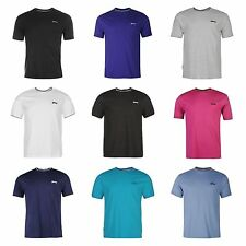 Slazenger Mens Tipped T shirt Gym Fitness Running Crew Top S M L XL XXL 3L 4XL