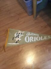 Very Rare Baltimore Orioles Pennant And 1954 American League Schedule
