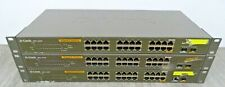 3 x D-Link DGS 1224T 24 Port (including 2x SFP) Gigabit Ethernet Network Switch