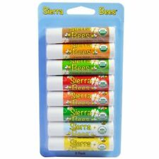 8 pack Lip Balm VARIETY PACK Sierra Bees Organic Beeswax All Natural 4.25gm NEW