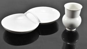 h17d57- KPM Porzellan Vase und Schale