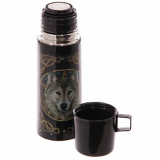 Celtic Wolf Stainless Steel Flask Thermos with Cup Thermal Travel Mug 350ml