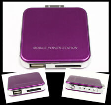 2200MAH PORTABLE EXTERNAL PURPLE BATTERY CHARGER USB IPHONE 4S 4 3GS IPOD NANO