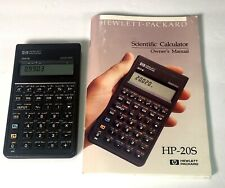 Hewlett-Packard (HP) 20S Scientific Calculator Tested with Manual