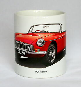 Classic Car Mug. MGB Roadster