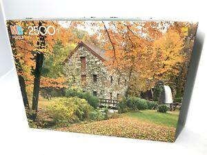 Vtg 1991 Milton Bradley 2500 Piece Jigsaw Puzzle Old Grist Mill Sudbury MA