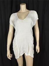 FAMOUS CATALOG LINEN BLEND  KNITTED SWIM COVER-UP IVORY SZ XS / S