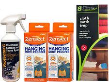 Clothes Moth Killer kit Zensect hanger x2 Bedding Linen Clothing Wardrobe Draws