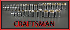 CRAFTSMAN HAND TOOLS 27pc LOT 3/8 6pt SAE & METRIC MM ratchet wrench socket set