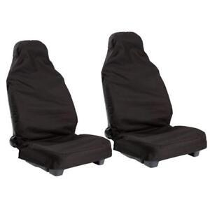 Universal Car Front Seat Covers Van Waterproof Heavy Duty Nylon Protectors x 2