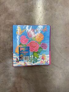 Lisa Frank Binder Rainbow Butterfly roses design
