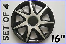"""SET OF 4 16"""" UNIVERSAL WHEEL TRIMS COVER,RIMS,HUB,CAPS TO FIT MAZDA +GIFT #8"""