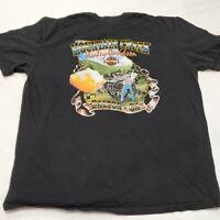 Harley Davidson Motorcycles Mountain Creek Dalton Georgia Men's Black T-Shirt XL