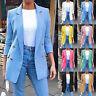 Women's Slim OL Casual Button Blazer Ladies Outwear Long Sleeve Suit Coat Jacket