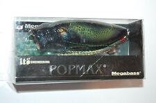 "megabass yuki ito popmax USA pop max 3 1/4"" 1/2oz bass popper black orochi"