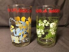 Bugs Bunny Leads Merry Chase 1974 Warner Bros Juice Glass Cup Elmer Fudd Daffy