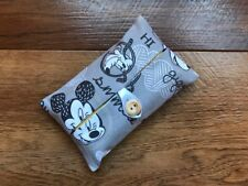 HANDMADE PACKET TISSUE HOLDER MADE USING DISNEY MICKEY MOUSE & FRIENDS FABRIC