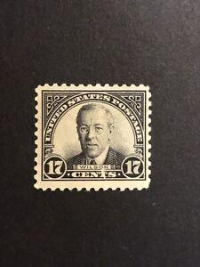 GandG US Stamps #623 Wilson 17c MNH OG Tear