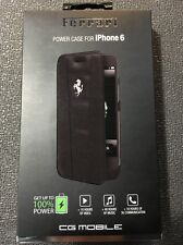 Official Ferrari iPhone 6/6S 458 Black 3000 mAh Leather Battery Case  Booktype