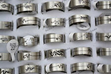 12pcs Wholesale Lots Cut Animal Cool Stainless steel Silver Rings Jewelry FREE