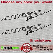 MIVEC POWER vinyl decal sticker mitsubishi ralliart evolution colt evo fq lancer