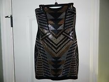 Women's Juniors Black & Gold Cocktail, Evening Homecoming, Dress Size M-NWT