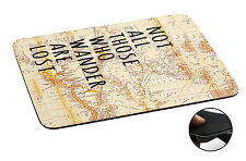 441 World Map Quote Anti-slip Mousepad Mouse Pad For Macbook PC Laptop-3MM