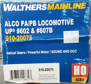 Walthers #910-20075 H.O. Union Pacific Alco PA/PB Set #602+607B w/DCC Sound