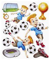 3D Wandsticker Wandtattoo Fußballer Fußball Tor Stadion XXL 3D Aufkleber Kinder
