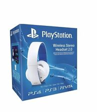 offizielle sony playstation ps4 ps3 psvita wireless 7.1 stereo headset 2.0 (weiß)