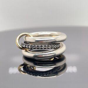 Spinelli Kilcollin Libra Linked Pavé Diamond Rings $1700