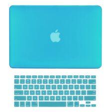 """Unik Case-2 in 1 Matte Hard Case & Silicone Skin for Macbook Pro 13"""" -Aqua Blue"""