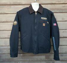 Men's Carhartt Black Blanket Lined Jacket Size XL New Hipster Trucker Coat H-6