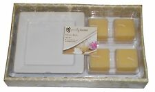 ~~ONE (1) 5-PC HONEY BATH SPA GIFT SET 4-CANDLES 1-CERAMIC CANDLE HOLDER PLATE!