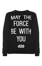 PRIMARK OFFICIAL ADULT STAR WARS MAY THE FORCE BE WITH YOU JUMPER SWEAT BNWT 16