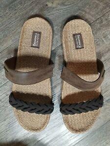 BEARPAW Women's Ash Slide Sandal, Chocolate, Size 9