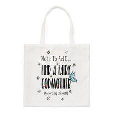 Nota per me stessa trovare una Fata Madrina Small Tote Bag-Divertente spalla