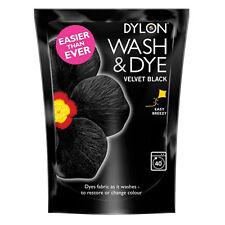 Dylon Wash & Dye in tessuto e abiti Macchina Dye + SALE GRANDE 350g in Velluto Nero