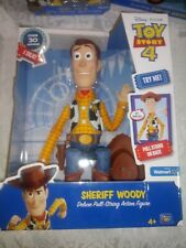 2019 DISNEY PIXAR TOY STORY 4  SHERIFF WOODY DELUXE PULL-STRING ACTION FIGURE
