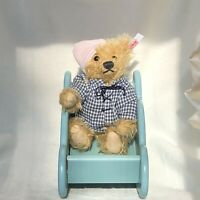 Steiff Wolkensen Bear With Cloudy Cradle EAN 037948, Ltd Ed fr 2002