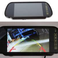 HD LCD TFT Color Screen Car Reverse Rear View Backup Camera DVD Mirror Monitor