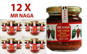 MR NAGA - 12 x (190 each jar)  - Best Hot Naga Pickle ever -  BEST PRICE!