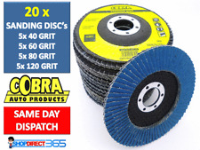 "20 x Flap Discs 115mm Sanding 40 60 80 120 Grit Grinding Wheels Discs 4.5"" Mix"